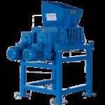 Vierwellenmaschine zur Zèrkleinerung von Festplatten