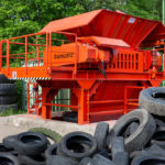 Rotorschere bomatic B1600 zur Reifenzerkleinerung