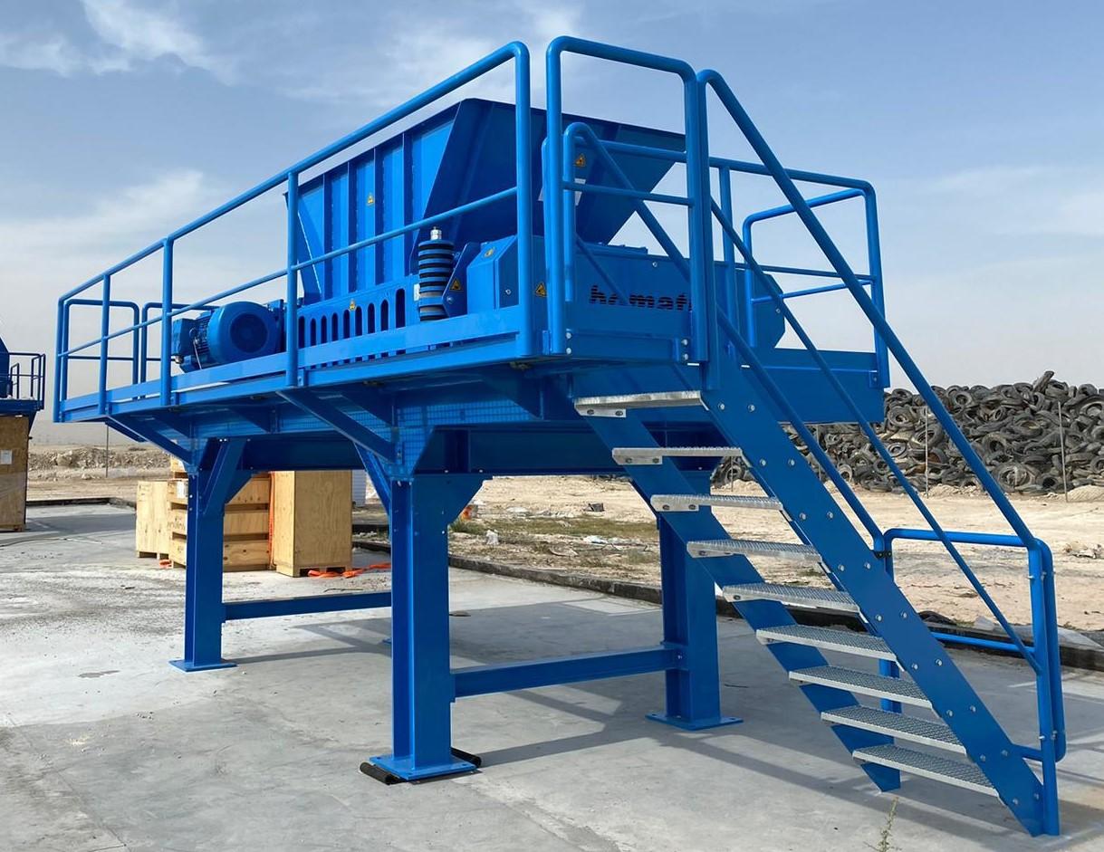 bomatic Rotorschere B1600 zur Altreifenzerkleinerung in Katar