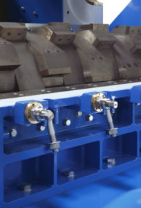 Granulator U1700 Schnittspalt von außen einstellbar