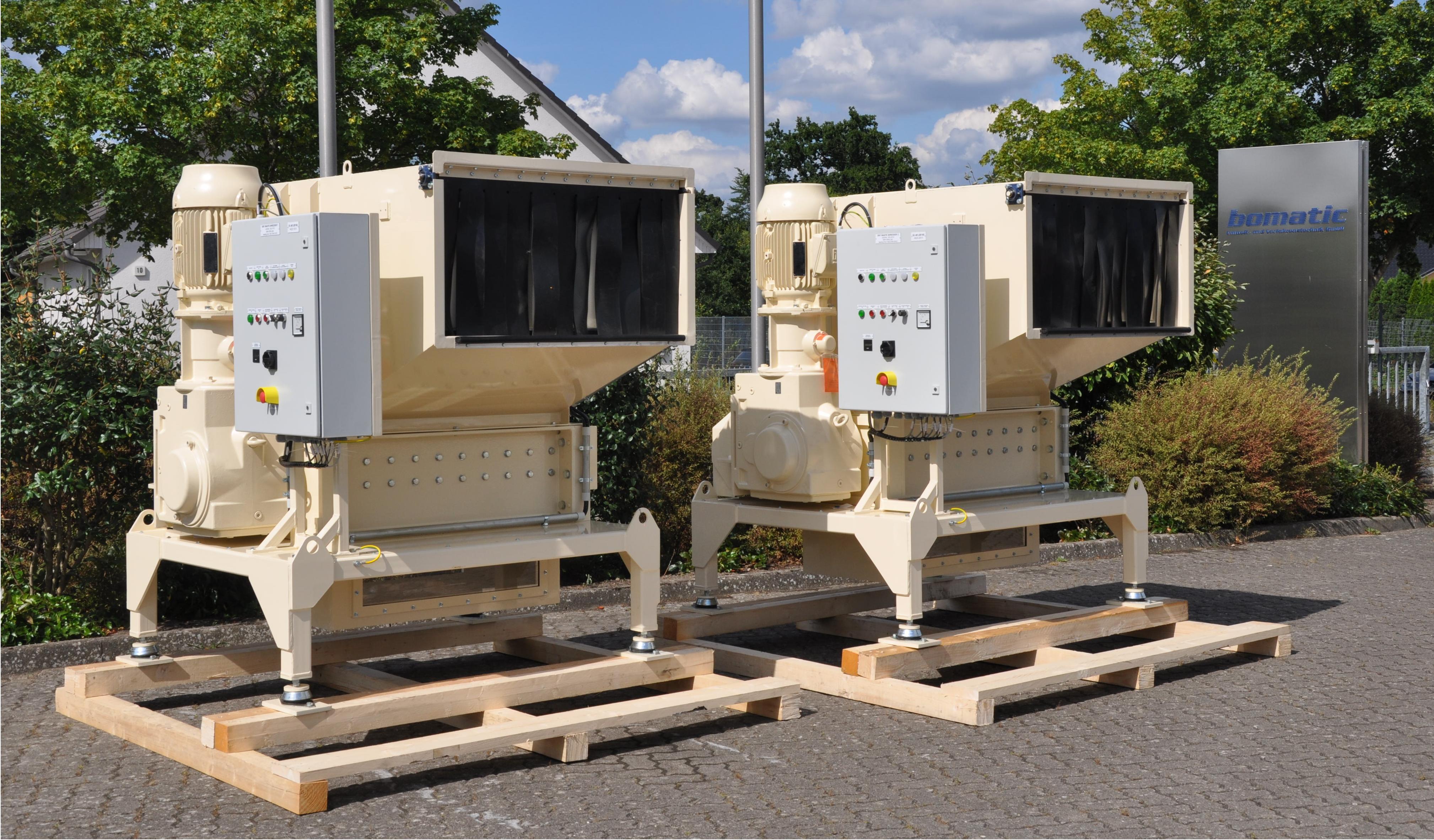 Rotorschere bomatic DS4 lang zur Zerkleinerung von Schiffsabfällen