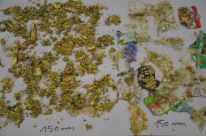 Bioabfall nach Zerkleinerung