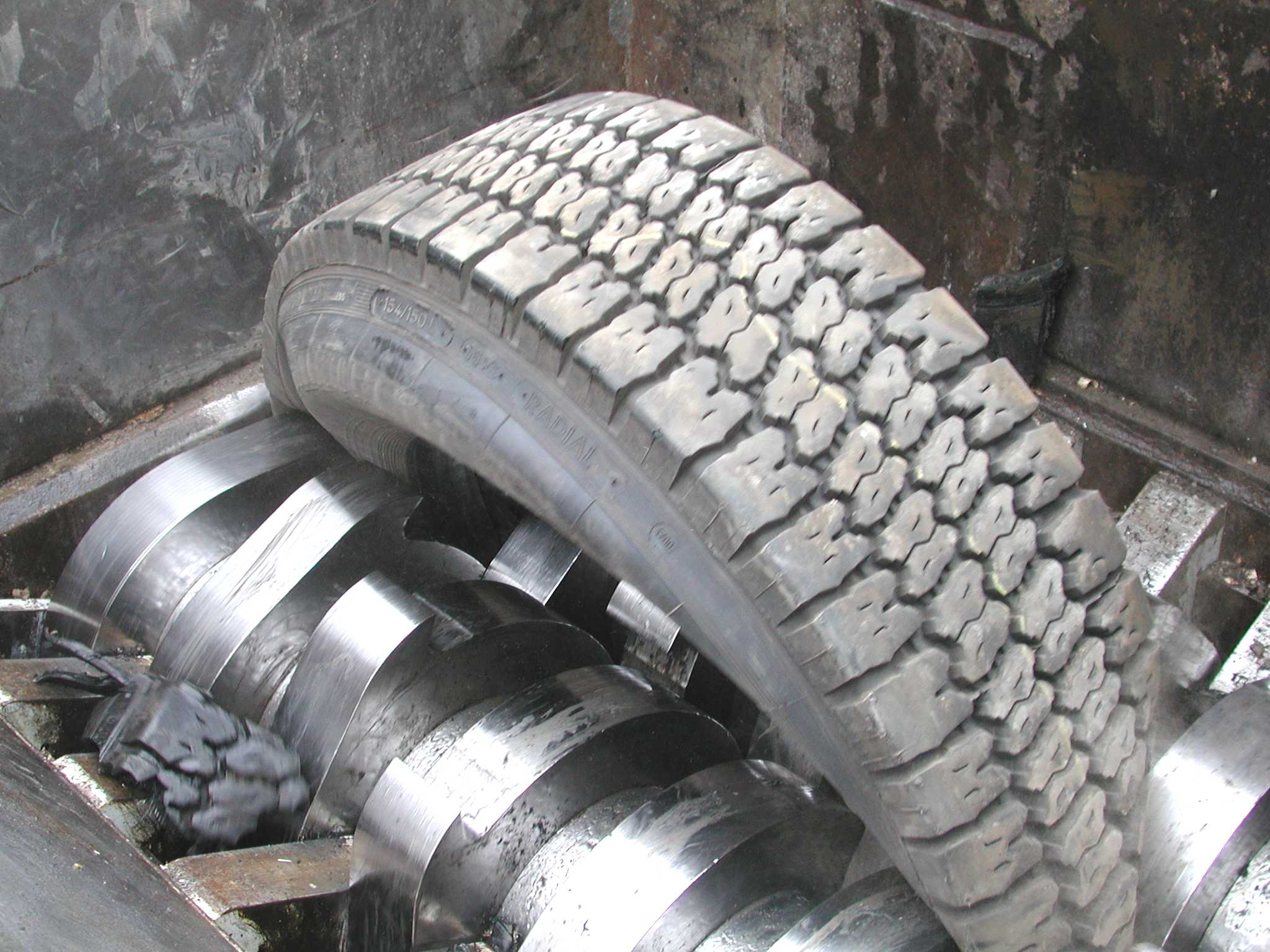Reifenzerkleinerung
