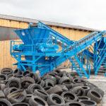 B1100DD zur PKW Reifenzerkleinerung